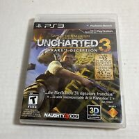 Uncharted 3: Drake's Deception Sony Playstation 3 Ps3 Video Game Free Ship