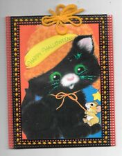 Plastic Canvas and Greeting Card Craft Happy Halloween! Black Cat Mouse