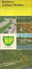 1970 BP OIL Road Map EASTERN UNITED STATES Florida Maine Virginia New York Ohio