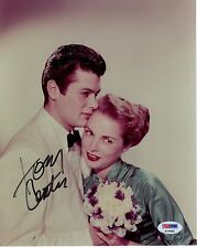 Tony Curtis Hand Signed 8x10 Photo Amazing Pose With Janet Leigh Psa Coa