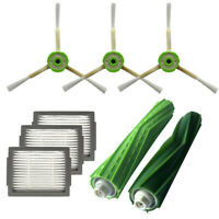 3Pcs Side Brush+3Pc Hepa Filter+Bristle Brush For iRobot Roomba i7 Plus E5 E6 E7