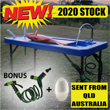 Portable Fish Filleting Bench Table Kitchen Sink Camping Outdoor Caravan BBQ
