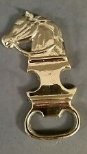 Brass horse head bottle opener