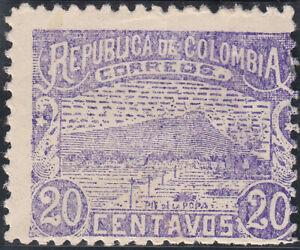 COLOMBIA 1902. 20 centavos. Urban View. Violet. MLH. OG