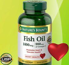 Nature's Bounty Maximum Strength FISH OIL 1400mg, 980mg of Omega-3, 130 Softgels