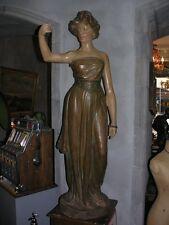 Très grande statue Art Nouveau 1m 50 plâtre polychrome