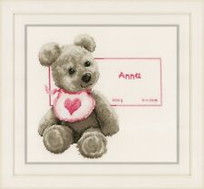 Bear with Bib : Vervaco Counted Cross Stitch Kit - PN0163514