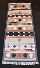 Handmade Cotton Rug Oriental Multi Color Kilim Runner Rug Dn-607