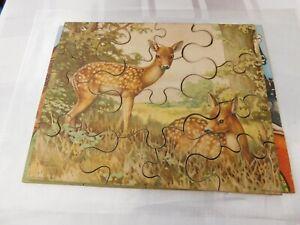 Vintage Plywood Deer Puzzle 1950's