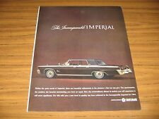 1964 Print Ad The '64 Chrysler Imperial LeBaron 4-Door Incomparable