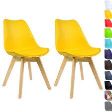 2er Set Esszimmerstühle Design Esszimmerstuhl Küchenstuhl Holz Gelb BH29gb-2