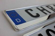 2 x Kennzeichenhalter Chrom  für BMW Kennzeichenhalterung passend für BMW