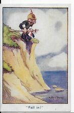 """RARE MILITARY WWI,POSTCARD,KITTY O'BRIAN,POLITICAL,SOLDIER,""""FALL IN !"""""""