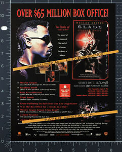 BLADE__Original 1998 Trade AD / promo__WESLEY SNIPES__STEPHEN DORFF__TRACI LORDS