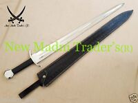 "38"" HIGH CARBON STEEL EUROPEAN MEDIEVAL BLACK HANDLE SWORD"