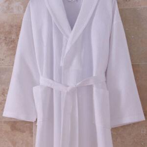 Waffle Weave White Bathrobe | 200TC Summer Dressing Gown | Hotel Quality | Lot