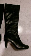 Ladies Dune Leather Knee High Boots sexy not PVC