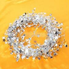 19.5ft Classic Star Wire Foil Tinsel Garland Pretty for Christmas Tree Decor