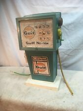 Vintage H G Toys Plastic Gulf Gas Pump and Air 1960s
