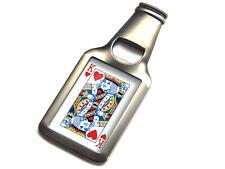 King of Hearts Playing Cards Premium Metal Bottle Opener Fridge Magnet