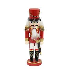 1 Schiaccianoci Soldato 25 cm Rosso Colorato Dipinto 30182