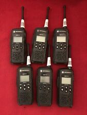 6 Motorola DTR550 Digital Two Way Radios 900 MHz