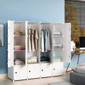 DIY 16 Cube Closet Wardrobe Modular Storage Organizer Clothes Kids Furniture YI