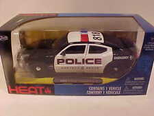 2006 Dodge Charger R/T Police Die-cast Car 1:24 Jada Toys 8 inch Black White