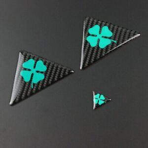 Alfa Romeo Quadrifoglio Cloverleaf wing badge emblem carbon fibre effect sticker