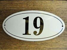 Stile ANTICO SMALTO porta numero 19 numero Civico Porta Placca Segno