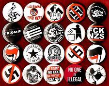 ANTI TRUMP ANTI NAZI 20 buttons pins fascist boycott GOODNIGHT ALT RIGHT antifa