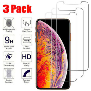 For i Phone 12 11 Pro Max XR X XS Max 8 7 Tempered GLASS Screen Protector 3-PACK