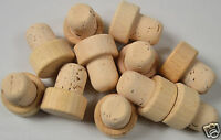 PACK OF 10 New Cork T-Stopper Cork Natural High Quality Home Brewing Bottle Top