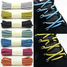 """130cm new sealed in package Shoelaces. Round Shoe Laces Blue//3M reflective 51"""""""