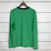 Lululemon Men's Core Crew Long Sleeve Shirt Size Small S Green Run Workout