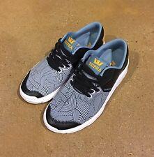 Supra Noiz Print Black Gold White Size 6 US Women's Skate Shoes Sneakers