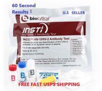 INSTI® HIV-1 & HIV-2 Rapid Antibody Self Test Kit.60 Second Results.
