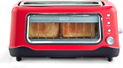 Dash Clear View Extra Wide Slot Toaster with Stainless Steel Accents + See throu photo