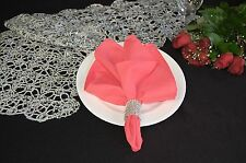 LOT OF 100 CORAL REEF WEDDING CATERING POLYESTER NAPKINS 20 X 20