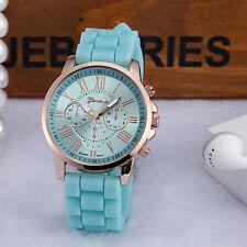 Fashion Nilicone Jelly Gel Ntainless Men Women Nteel Nnalog Nuartz Wrist Watch N