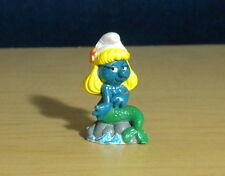 Smurfs Mermaid Smurfette W Berrie Vintage Smurf 80s Figure Classic Toy Lot 20142