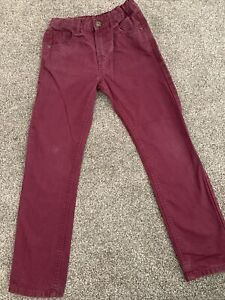 M&S Age 9-10 Berry Coloured Jeans