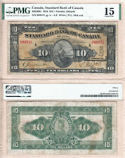 1924 $10 Standard Bank of Canada Rare Large Note PMG CHF15, CH#695-20-04