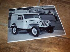 Photo de presse / Press Photograph WILLYS Jeep Dispatcher //