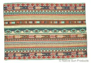 """Native Blanket design  Placemats Table Mats Southwestern Woven 13x19""""   #11056"""