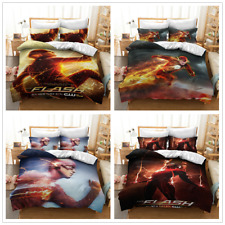 3D The Flash Bettwäsche Set Bettwaren Bettbezug mit Kissenbezug Kinder Geschenk