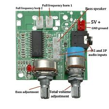 DC 5V 20W 2.1 Channel AMP 3D Surround Digital Stereo Class D Amplifier Board