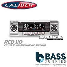 CALIBER Vintage Classic style cd usb MP3 sd aux autoradio stéréo lecteur chrome