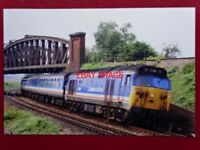 PHOTO  BR DIESEL CLASS 50 LOCO NO 50016 BARHAM AT BATTLEDOWN FLYOVER