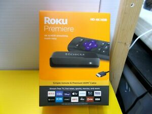 NEW Roku Premiere HD 4K HDR Netflix Vudu HBO Streaming Media Player 3920RW
